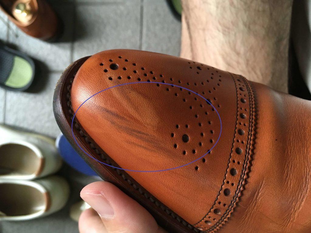 革靴 黒ズミ